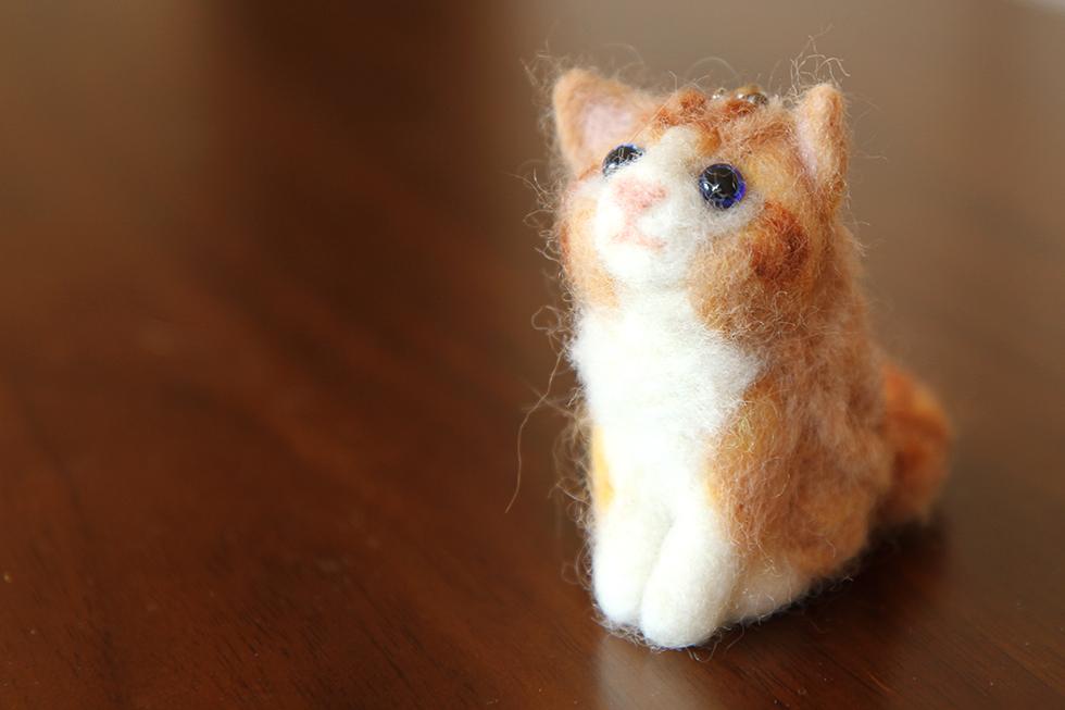 いただいた菊さんのハンドメイドのフェルト人形