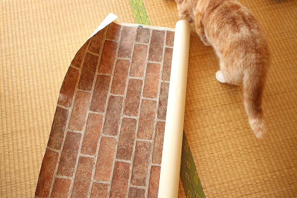 マリオブロック風ボックスに使用したレンガ壁紙